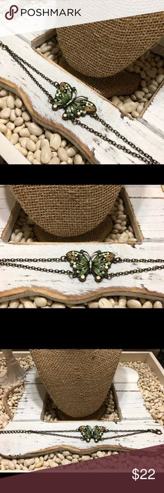 Vintage Butterfly Bracelet or Ankle Bracelet I have worn this an ankle bracelet.  So beautiful worn thus way. I received so many compliments.  The butterfly is amazing   EUC Jewelry Bracelets