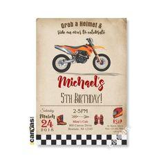 Free Printable Motorcycle Birthday Invitations S