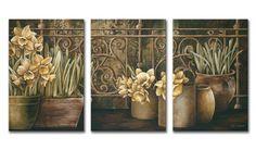 Xl10_8297 / Cuadro Ironwork with Daffodils