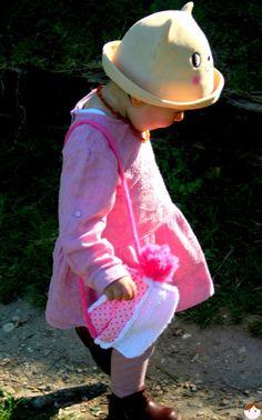 Sac girly homemade en laine et tissu