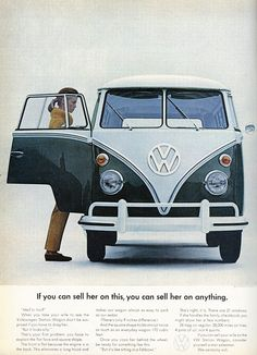 The 60's VW ads  have many gems, including this one.