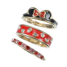 Minnie Mouse 3 Piece Ring Set