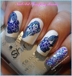 Nail Art Stamping Mania: Stamping Decals with Glitters and Holo polish…