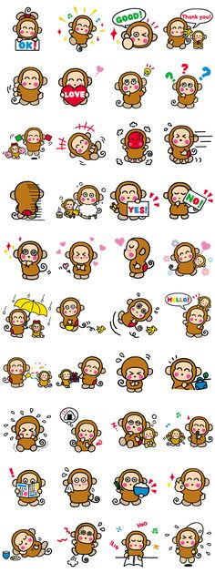 OSARUNOMONKICHI - LINE Stickers