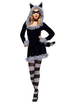 Racy Raccoon Costume, Ladies Fancy Dress - Animals at Escapade