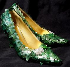 Poison Ivy Shoes Costume Heels Fairy Nymph 1950 by sajeeladesign, $55.95