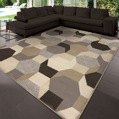 """Shop for Carolina Weavers Soft Neutral Osos Gray Area Rug (5'3"""" x 7'6""""). Get free shipping at Overstock.com - Your Online Home Decor Outlet Store! Get 5% in rewards with Club O!"""