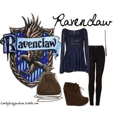 """""""Ravenclaw2"""" by sad-samantha on Polyvore Harry Potter Outfits, Harry Potter Fandom, Harry Potter World, Harry Potter Style, Disney Inspired Outfits, Themed Outfits, Ravenclaw, Fandom Fashion, Hogwarts Houses"""