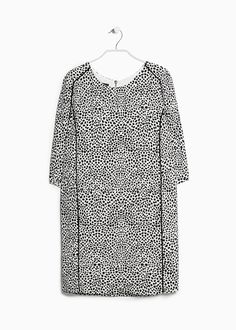 Animal print dress monochrome