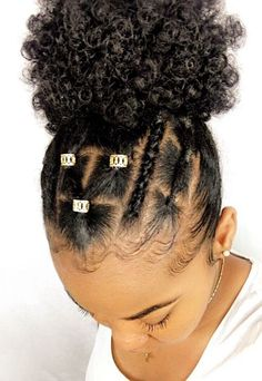 43 Protective Hairstyles For Natural Hair – Hair styles Baby Girl Hairstyles, Kids Braided Hairstyles, Black Girls Hairstyles, Vintage Hairstyles, Natural Hairstyles For Kids, School Hairstyles, Simple Hairstyles, Braid Hairstyles, 1950s Hairstyles