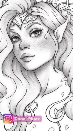People Coloring Pages, Adult Coloring Book Pages, Cute Coloring Pages, Outline Drawings, Easy Drawings, Easy People Drawings, Drawings With Meaning, Girl Drawing Sketches, Tumblr Sketches