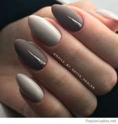 Awesome grey nail art design