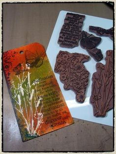 Tim Holtz love the color and reverse out
