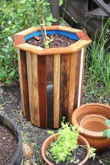 Stylish and Low Cost 55 Gallon Drum Planters : 15 Steps (with Pictures) - Instructables Planter Box Plans, Wood Planter Box, Wooden Planters, Outdoor Planters, Diy Planters, Planter Ideas, Outdoor Fountains, Raised Planter, Water Fountains