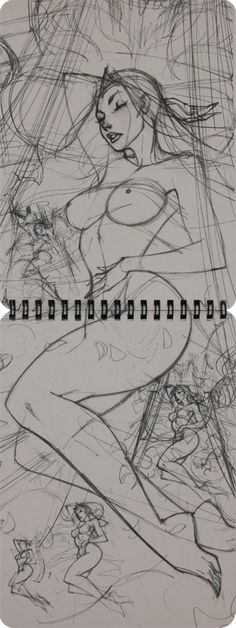 Sleep Beauty J. Scott Campbell Ruff Stuff 2012 Vol 2 Sketchbook (P7-8)