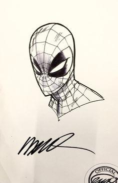 Spider-man Sketch by Humberto Ramos