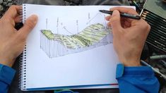 Linescapes: Analytical section drawing  How can a drawing be a tool for analysis? Analytical section drawing is a method for recording a landscape, it's elements and structure.