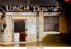 Lunch 'Downstairs' Diner in the American Tobacco Campus District, Durham North Carolina USA - Stock Image