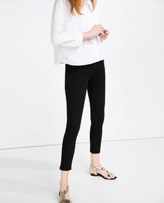 Image 2 of HIGH RISE SKINNY JEANS from Zara