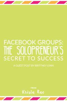 There's a way to connect on more personal level on Facebook and you don't need to pay a dime. Facebook groups are the solopreneur's secret to success.