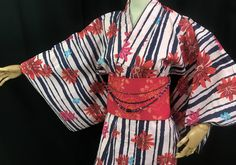 浴衣 YUKATA JAPONAIS - FLEURS ET LIGNES 1409