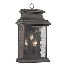 Outdoor Wall Light with Clear Glass in Charcoal Finish   47054/3   Destination…