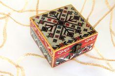 Christmas Jewelry box  Wooden Jewelry Box  by ArtKaleydoskop2015