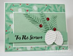 Stampin' Up! Christmas pretty pines, by TreasureOiler - Cards and Paper Crafts at Splitcoaststampers
