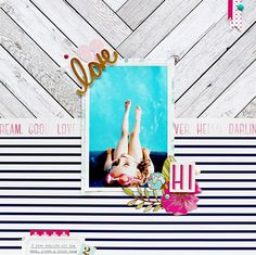 Water Baby by Adow at @studio_calico #studiocalico #scrapbooking