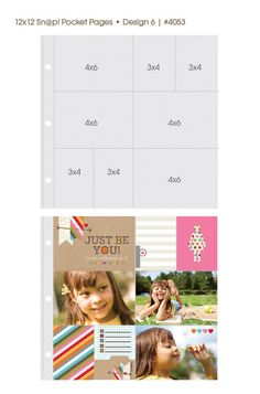 Simple Stories 12x12 Sn@p Pocket Pages Design 6 #4053