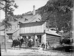 General Store and Black Wonder Mill Sherman, Colorado, 1895