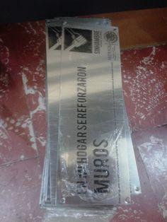 placas fotograbadas en acero inox