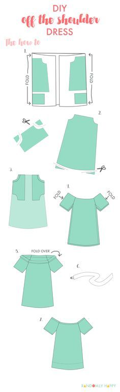 Dress vestidos DIY Pattern: off the shoulder summer dress (how to) Super easy DIY off the shoulder dress pattern and tutorial. Possibly the most perfect summer dress ever Diy Clothing, Sewing Clothes, Clothing Patterns, Sewing Patterns, Off Shoulder Diy, Shoulder Dress, Summer Dress Patterns, Shirt Tutorial, Diy Vetement