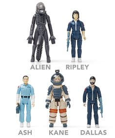 Alien Reaction Figures, based on 1979 prototypes which were never manufactured $14.99 ea.