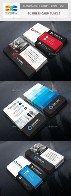 Business Card Bundle by -axnorpix Features : ? Round /square corner possible. Easy to edit. Optimized for printing / 300 dpi. Business Card Fonts, Buy Business Cards, Business Card Maker, Vintage Business Cards, Cleaning Business Cards, Simple Business Cards, Professional Business Cards, Business Card Design, Corporate Business