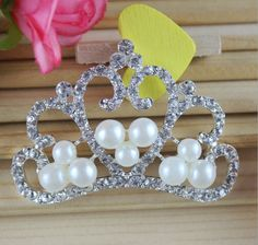Free Shipping Wholesale 50pcs/lot 46x32mm Rhinestone Flatback Button For Hair Flower Wedding Invitation BJ001 Wedding Headband, Wedding Hair Flowers, Flowers In Hair, Frozen Crown, Hair Braider, Band Pictures, Crown Hairstyles, Tiaras And Crowns, Silver Color