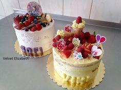 Dve malé tortičky, pre malé princezné....jedna tortička plnená vanilkovo-šľahačkovým krémom a ovocím a druhá tortička je bezlepková s tvarohovým krémom s minimom cukru / cukor dodala šľahačka a čerstvé ovocie/....všetko naj prajem....