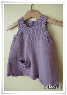 Eco Baby picot dress by debbie bliss