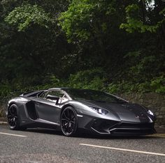 Lamborghini Aventador Super Veloce Roadster painted in Grigio  Photo taken by: @harrisonkcars on Instagram (@elliejemmett on Instagram, her father, is the owner of the car)