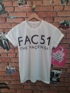 Men's Manchester's FAC51 HACIENDA indie t shirt/T-shirt/tee (Woman's fit also available) by BADYOUTHTEES on Etsy