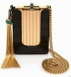 ART IN YOUR HAND: BAGS JOYA,  Black/gold evening bag