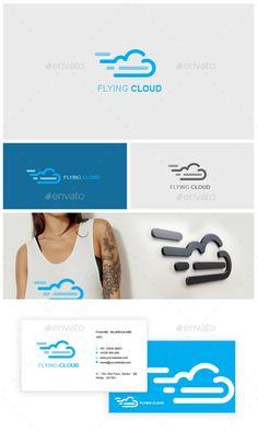 Flying Cloud Logo Flying Cloud LogoSuper easy to modified Easy editable text CMYK @ 300 DPI Print-ready 100 scalable CMYK Custom Logo Design Template, Logo Templates, Logo Cloud, Flower Symbol, Logos Cards, Text Types, Symbol Logo, Modern Logo, Logo Design Inspiration