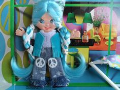 60S+Toys   Vintage Flatsy Doll Kookie Mod 60s Ideal Toy by VintageFunland