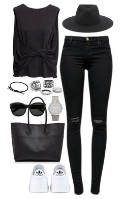 """Untitled #1561"" by elizabethwhitehead ❤ liked on Polyvore featuring J Brand, H&M, adidas, Rebecca Minkoff, rag & bone, David Yurman, Larsson & Jennings and Yves Saint Laurent"