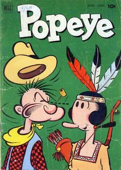 Popeye and Olive Oyl -- vintage comic books Old Comic Books, Vintage Comic Books, Vintage Cartoon, Comic Book Covers, Vintage Comics, Classic Comics, Classic Cartoons, Popeye Olive Oyl, Popeye Cartoon