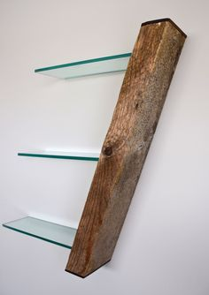 Reclaimed Driftwood Shelf With Hidden Compartment by Craig Kimm