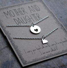 Mother Daughter  Necklace  .  the love between a by honeyverse