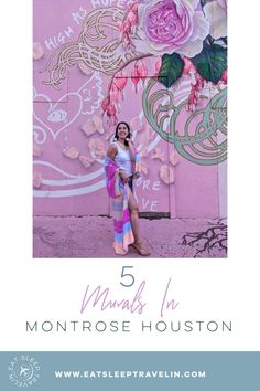 Instagram walls. Top things to do in Houston. Instagrammable spots in Houston. Houston murals. Montrose Houston, Houston Murals, Emerson Rose, Instagram Wall, Florence The Machines, Vintage Clothing Stores, Color Lines, Rainbow Colors, Things To Do