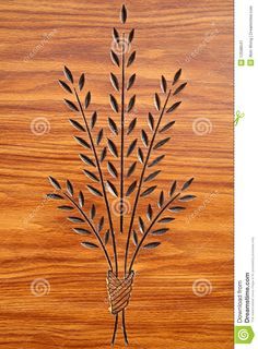 Plant Carving On Wood - Download From Over 28 Million High Quality Stock Photos, Images, Vectors. Sign up for FREE today. Image: 12598541