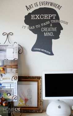Art is Everywhere wall quote from Wallternatives removable wall decals stickers - Decorated by Home Made by Carmona